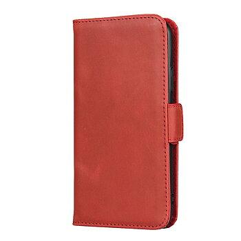 iPhone XS/X Plånboksfodral av Äkta Läder - Röd