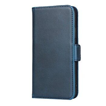 iPhone XS/X Plånboksfodral av Äkta Läder - Blå