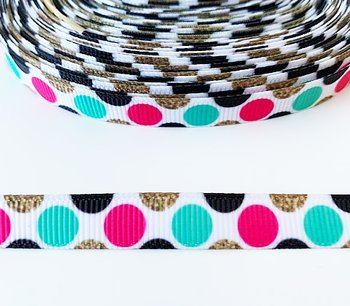 Printed ribbon dotts 10mm