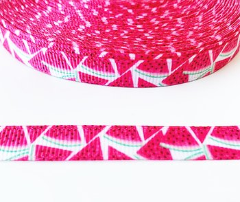 Printed ribbon watermelons 10mm