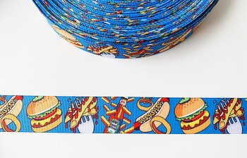 Printed ribbon fastfood 22mm