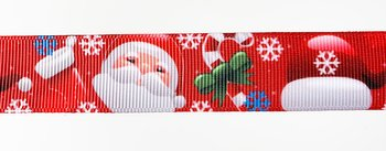 Printed ribbon santa  22mm