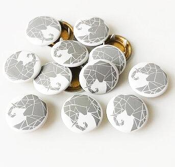 Tryckknapp Elefant grå