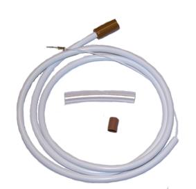 Luftslang C4 (brun/vit)