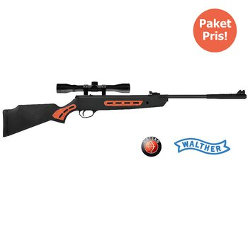 Hatsan Striker S Orange 4,5mm + Kikarsikte Walther 4X32