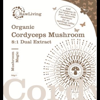 Cordyceps (Cordyceps sinensis) 8:1 Extract Powder - Vegan & Organic 50g