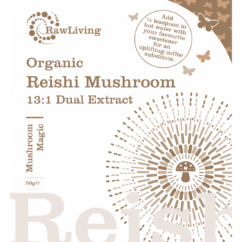 Reishi (Ganoderma lucidum) 13:1 Dual Extract Powder - Organic 50g