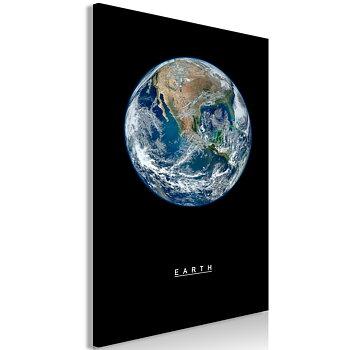 Tavla - Canvastavla - Earth Vertical