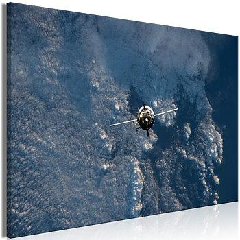 Tavla - Canvastavla - Blue Planet Vertical