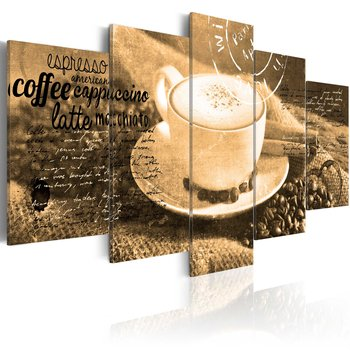 Tavla - Canvastavla - Coffe, Espresso, Cappuccino, Latte machiato ... - sepia