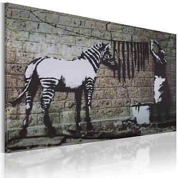 Tavla ? Banksy - Zebra tvätt