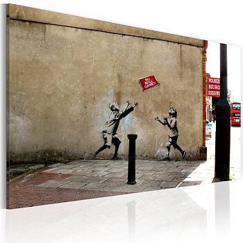 Tavla - Canvastavla - No ball games (Banksy)