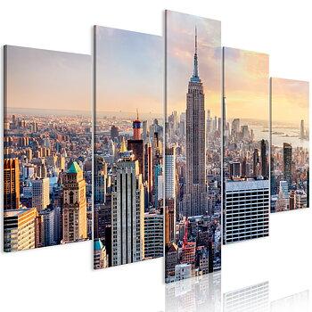 Tavla - Canvastavla – Sol i New York