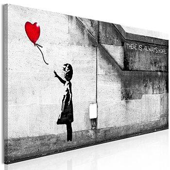 Tavla - Canvastavla - There is Always Hope Narrow Red