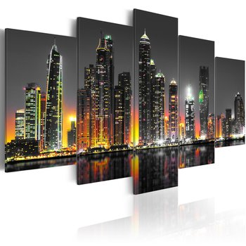 Tavla - Canvastavla – Dubai stad i öknen