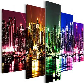 Tavla - Canvastavla – Färggrann natt i New York