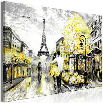 Tavla - Canvastavla - Colourful Rendez-Vous Wide Yellow