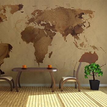 Fototapet - Tea karta över världen
