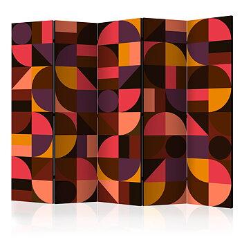 Rumsavdelare - Geometric Mosaic (Red) II