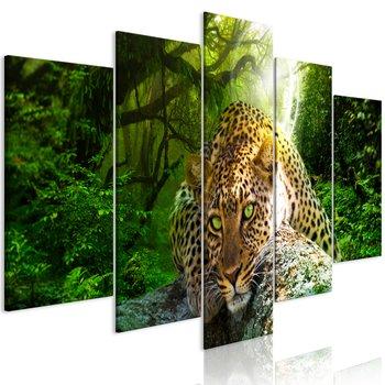 Tavla - Canvastavla - Leoparden vilar i djungeln
