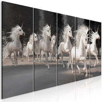 Tavla – Canvastavla – Enhörningarnas dans
