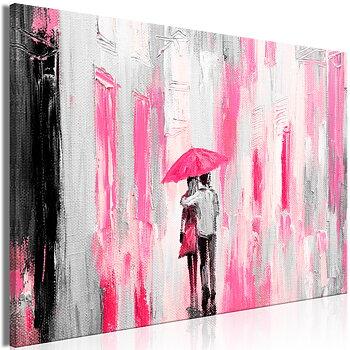 Tavla - Canvastavla - Umbrella in Love Wide Pink