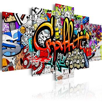 Tavla - Canvastavla - Colourful Style