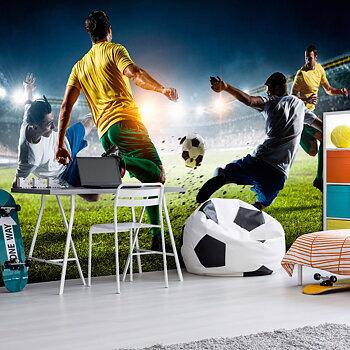 Fototapet – Fotbolls action
