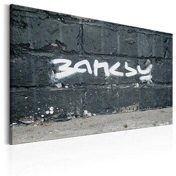 Tavla - Canvastavla - Banksy Signature