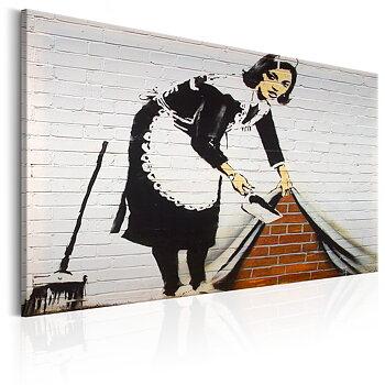 Tavla - Canvastavla - Maid in London by Banksy