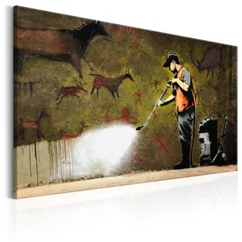 Tavla - Canvastavla - Cave Painting by Banksy