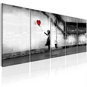 Tavla - Canvastavla - Banksy - Runaway Balloon