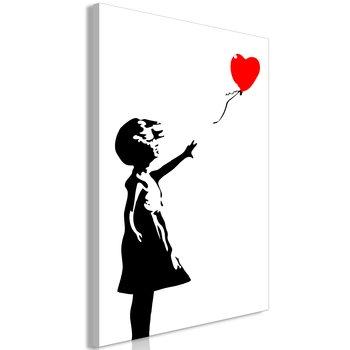 Tavla - Canvastavla - Little Girl with a Balloon Vertical