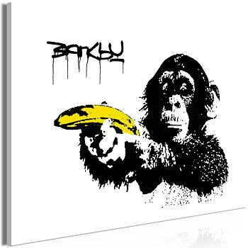 Tavla - Canvastavla - Banksy: Monkey with Banana Wide