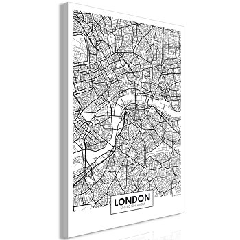 Tavla - Canvastavla - Map of London Vertical