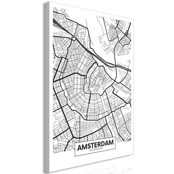 Tavla - Canvastavla - Map of Amsterdam Vertical