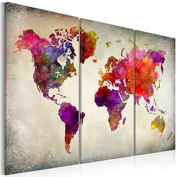 Tavla - Canvastavla - World - Mosaic of Colours