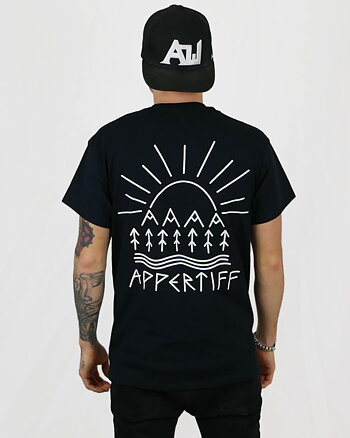 "Appertiff ""Escape"" svart t-shirt"