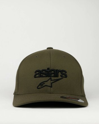 "Alpinestars ""Heritage blaze"" militär grön flexfit keps"