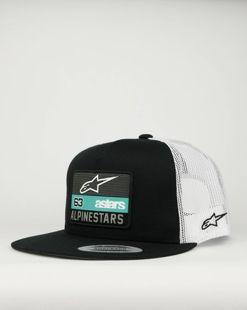 "Alpinestars ""Sponsored"" svart/vit snapback keps"