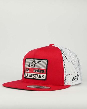 "Alpinestars ""Sponsored"" röd/vit snapback keps"