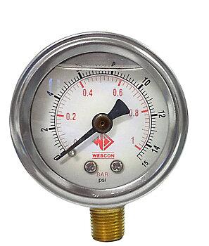 Bränsletrycksmätare 0-15 psi (FÖRGASARE)