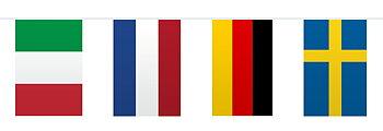 Girlang Flaggor Europa, 10 m