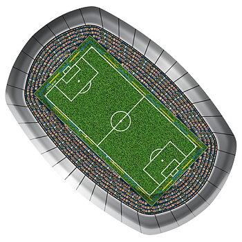 Plates Football, 8 pc
