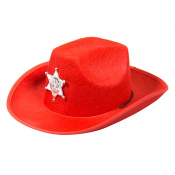 Cowboy Hat Red  (w/LED)