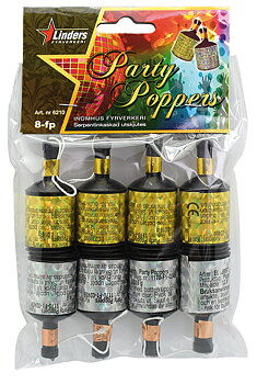 PARTYPOPPERS, 8-PACK