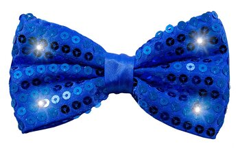 Blue Bow Tie Metallic with LED