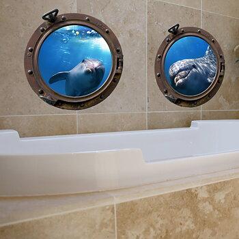 Porthole Submarine Dolphins