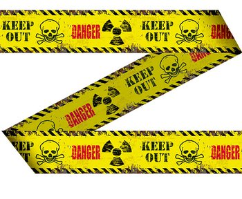 Advarsel tape KEEP OUT - DANGER,  15 m