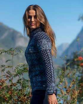 DALE OF NORWAY Peace women's sweater blå